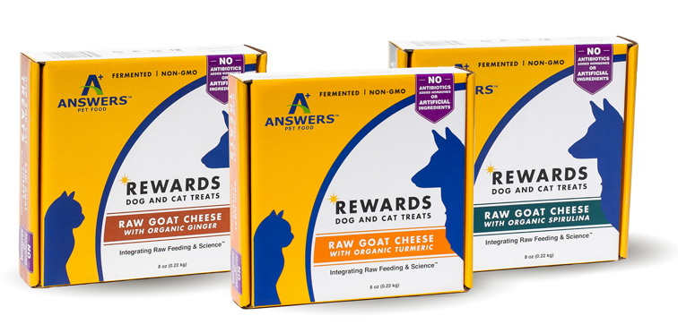 ANSWERS DOG CAT FROZEN GOAT CHEEZE & TURMERIC TREAT 8OZ - My Pet Store and  More