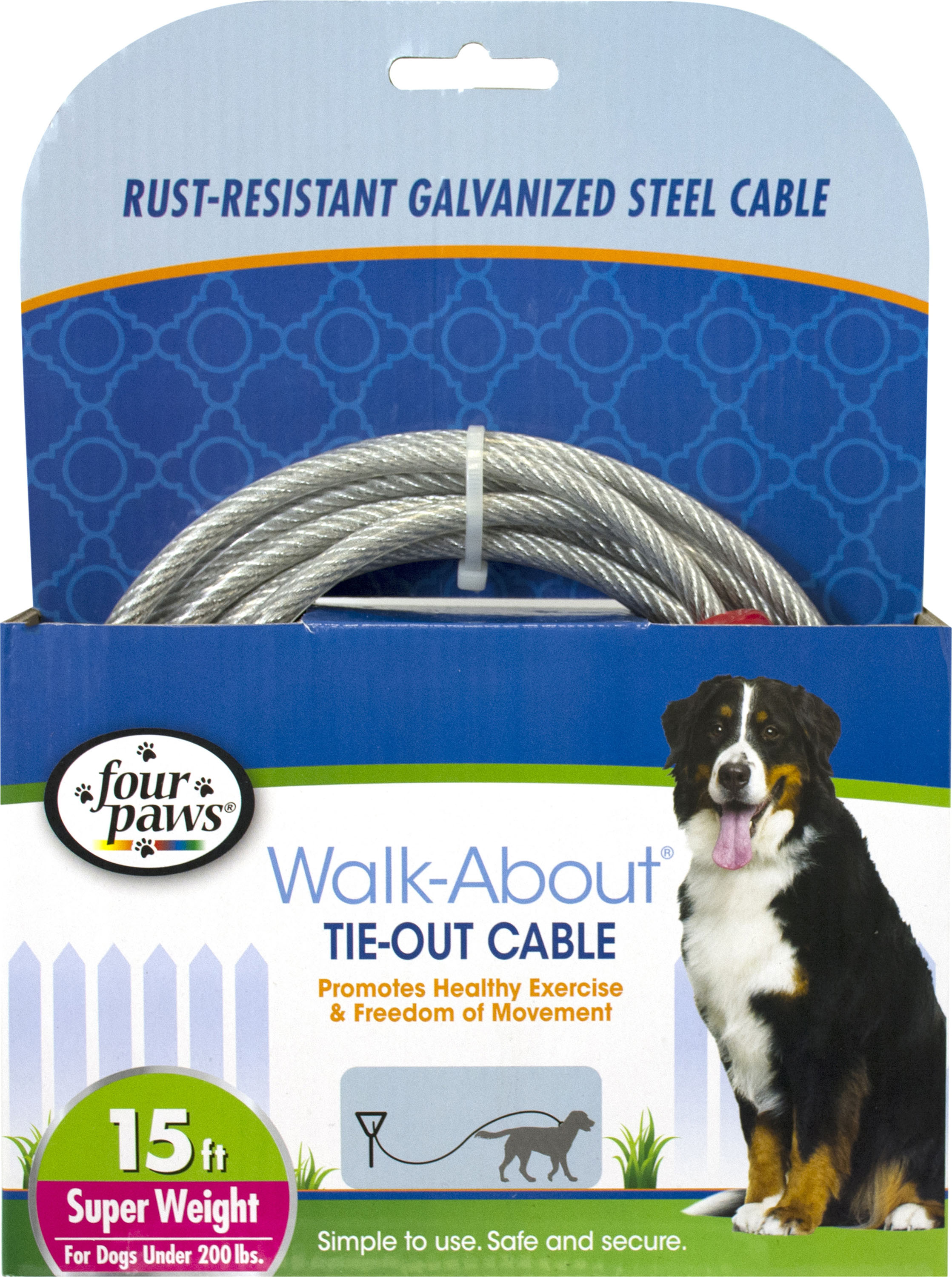 Four Paws Dog Tie Out Cable Super Weight My Pet Store