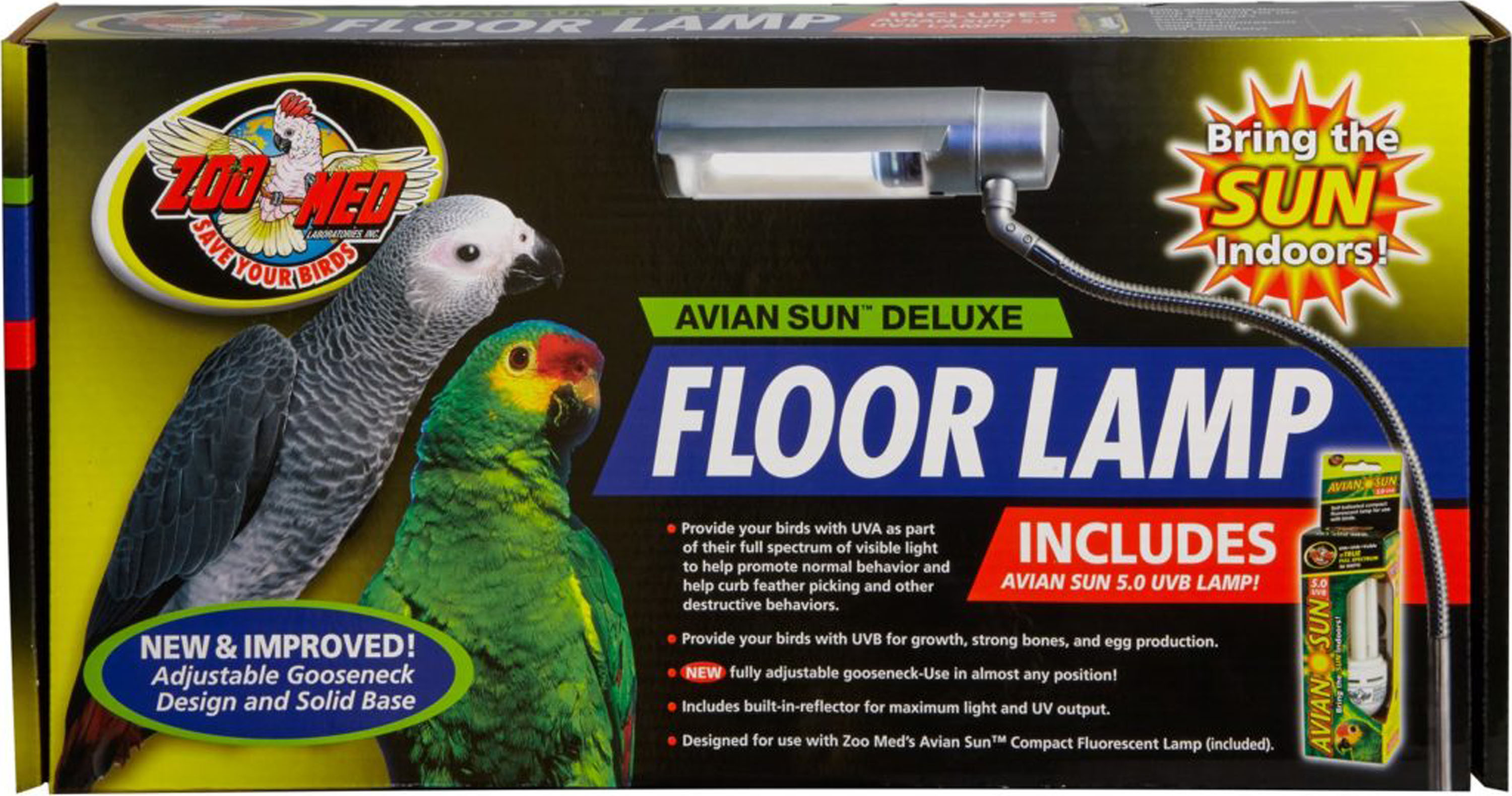 AVIANSUN DELUXE FLOOR LAMP WITH AVIAN SUN - My Pet Store and More